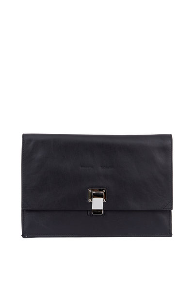 Proenza Schouler - Lunch Bag Black Leather Small Clutch
