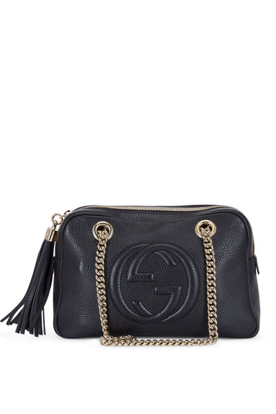 Gucci - Soho Black Leather Small Chain Strap Shoulder Bag