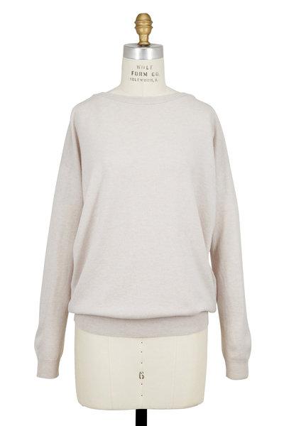 Brunello Cucinelli - Granite Cashmere Monili Web Sweater