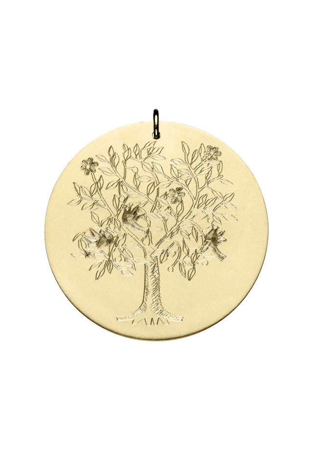 Yellow Gold Tree of Life Charm, Large
