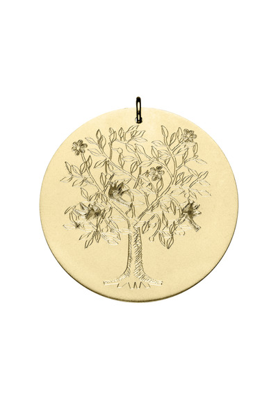 Emily & Ashley - Yellow Gold Tree of Life Charm, Large