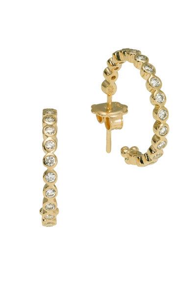 Temple St. Clair - 18K Yellow Gold Diamond Eternity Hoops