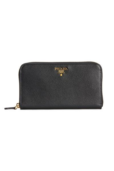 Prada - Black Saffiano Sport Zip Wallet
