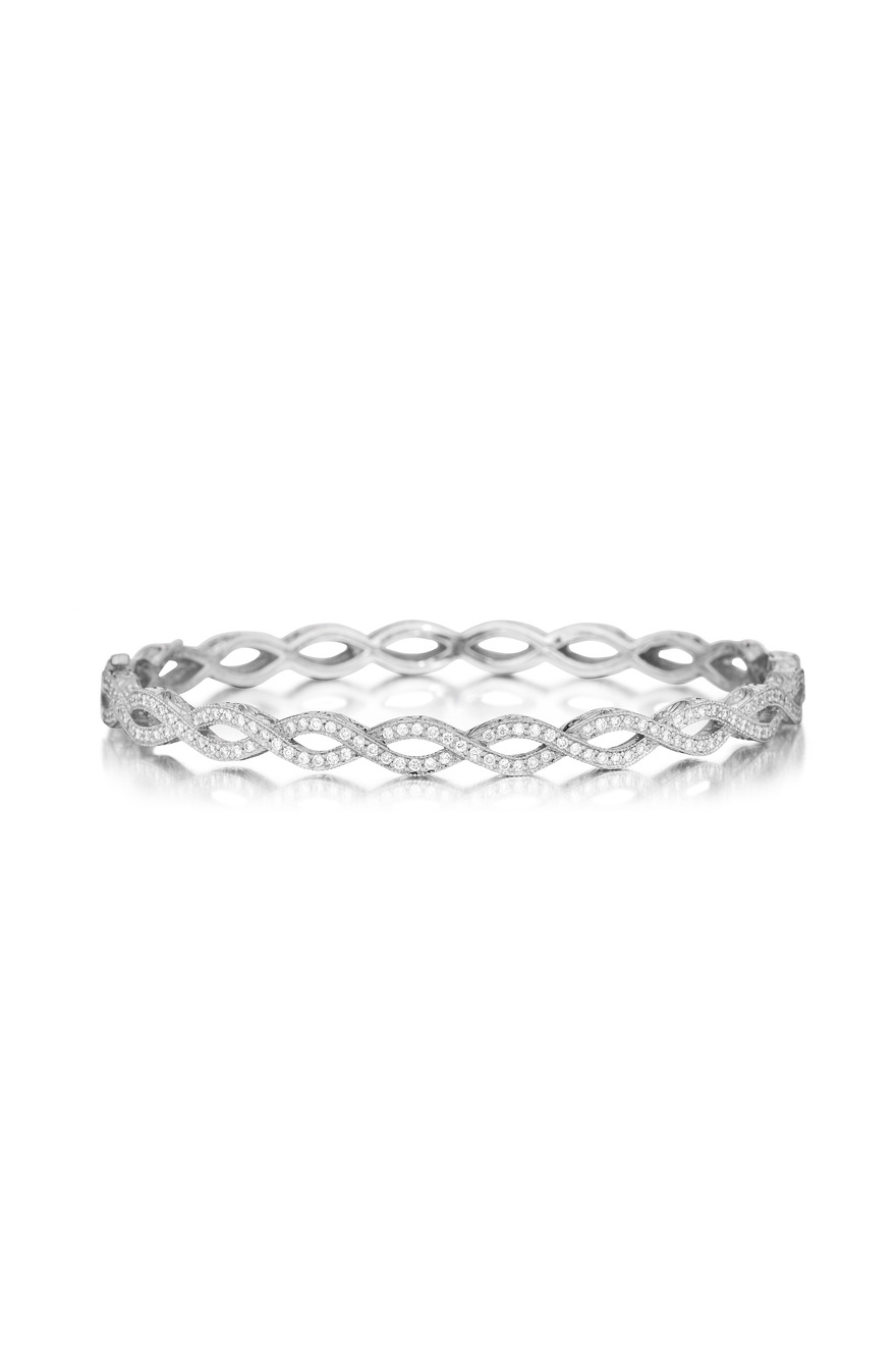 Entwined Diamond Bangle