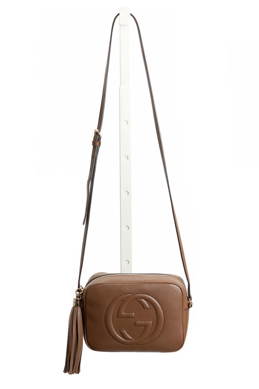 Soho Disco Maple Brown Leather Crossbody Bag