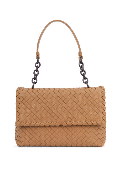 Bottega Veneta - Olimpia Camel Intrecciato Leather Shoulder Bag