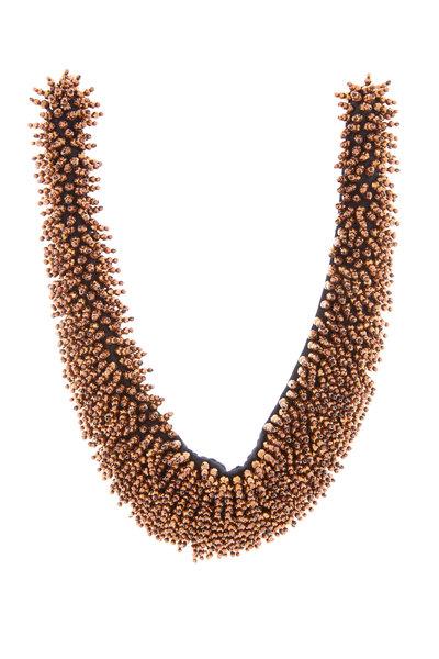 Brunello Cucinelli - Copper Hematite Bib Necklace