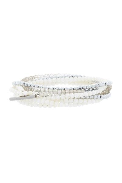 Brunello Cucinelli - White Tri-Bead Wrap Bracelet & Necklace, 3mm