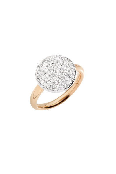 Pomellato - Sabbia 18K Rose Gold Diamond Disc Ring