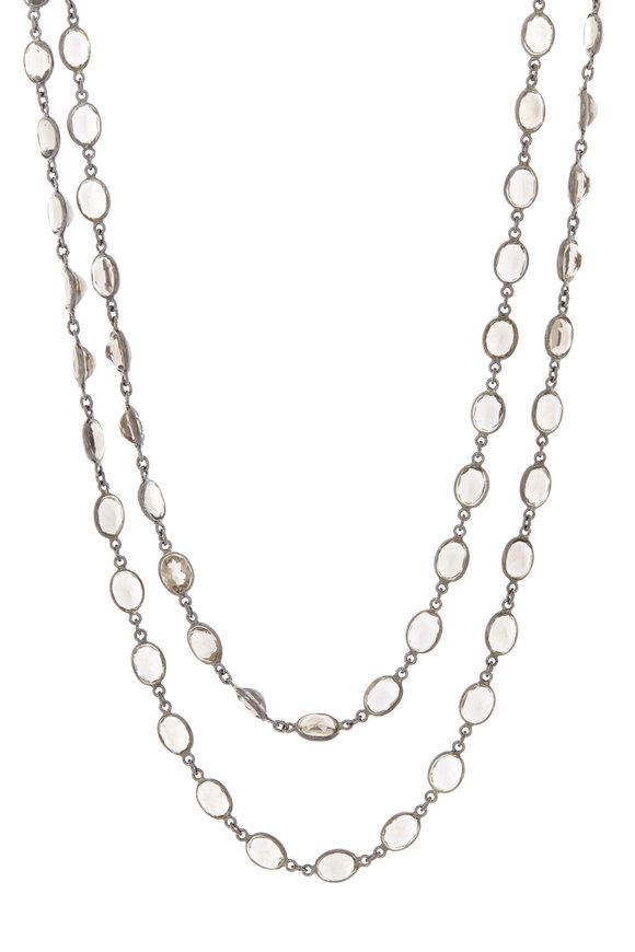 Loriann Sterling Silver Oval Labradorite Accessory Chain