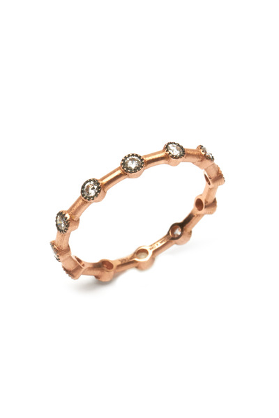 Sylva & Cie - 14K Rose Gold Diamond Band