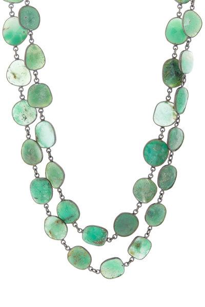 Loriann - Silver Chrysoprase Necklace