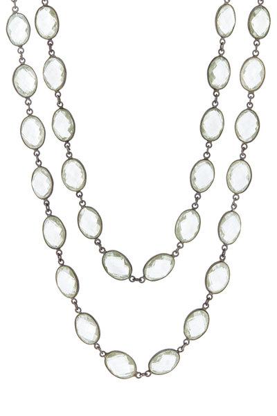 Loriann - Sterling Silver Green Amethyst Necklace