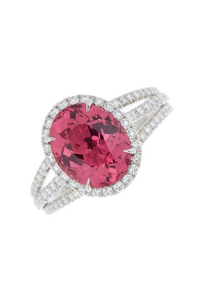 Omi Privé - Platinum & Gold Spinel Diamond Cocktail Ring