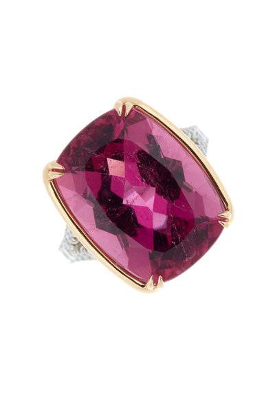 Omi Privé - Pink Tourmaline & Diamond Cocktail Ring