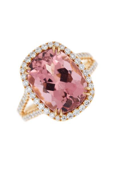 Omi Privé - 18K Rose Gold Pink Tourmaline Diamond Ring
