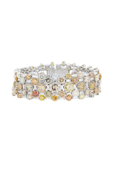 Eclat - Platinum Fancy Diamond Bracelet
