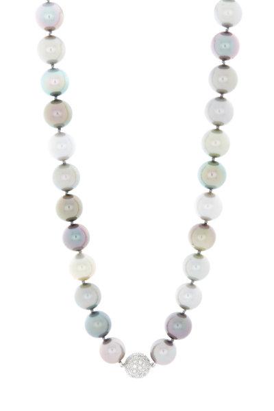 Eclat - Platinum Tahitian Pearl Diamond Necklace