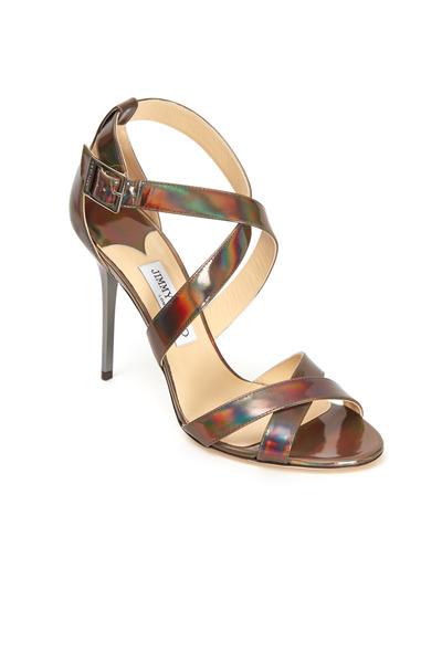 Jimmy Choo - Lottie Iridescent Crisscross Sandals
