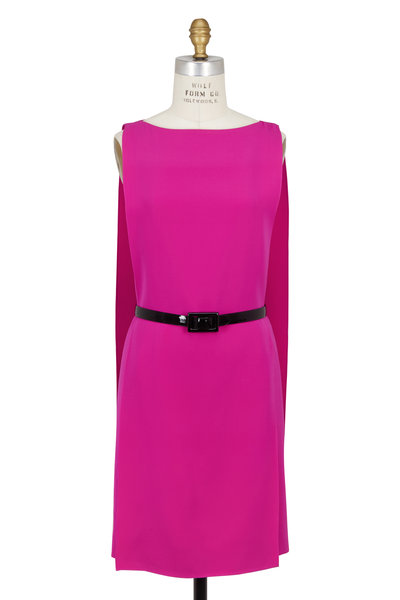 Ralph Lauren - Haidee Fuchsia Cady Draped Dress
