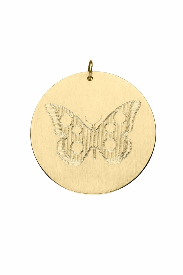 Yellow Gold Butterfly Charm Pendant