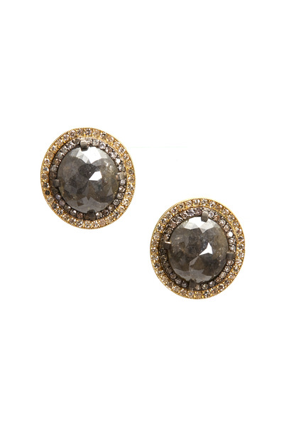 Sylva & Cie - Yellow Gold Rough Diamond Earrings