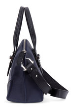 Alexander McQueen - Legend Black & Navy Blue Leather Small Satchel
