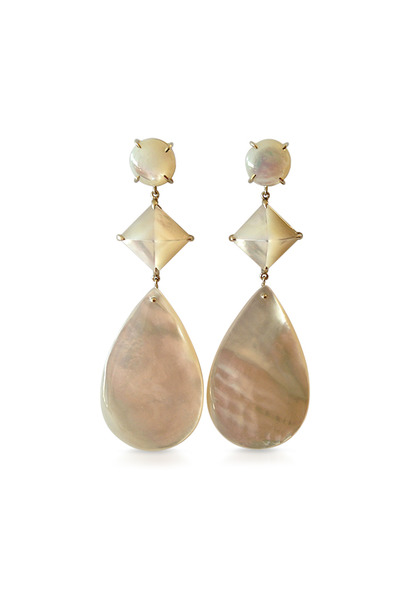 Emily & Ashley - White Gold Stone Dangle Earrings