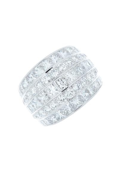 Eclat - White Gold 5 Row Diamond Ring