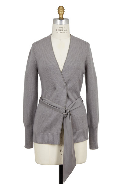 Brunello Cucinelli - Clay Cashmere V-Neck Monili Trim Cardigan