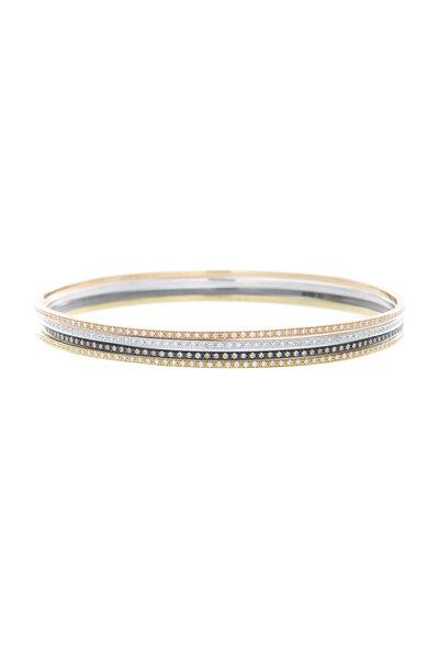 Eclat - 18K Gold Diamond Bangle Set