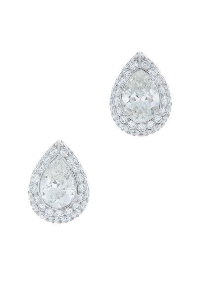 Eclat - White Gold Diamond Stud Earrings