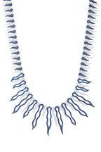Eclat - White Gold Blue Sapphire Diamond Suite Necklace