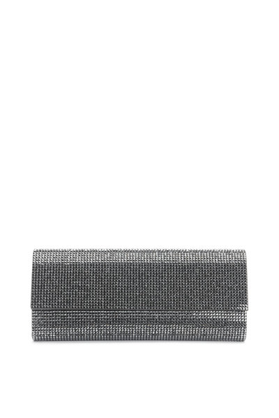 Judith Leiber Couture - Gray Hematite Crystal Flap Front Clutch