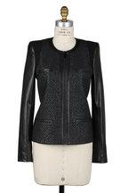 Barbara Bui - Black Bouclé & Leather Jacket