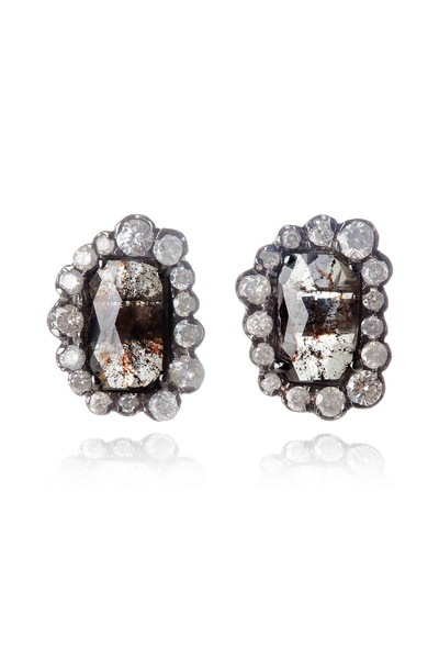 Kimberly McDonald - Diamond & Irregular Diamond Stud Earrings