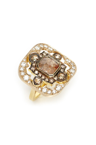 Sylva & Cie - Yellow Gold Diamond Cocktail Ring