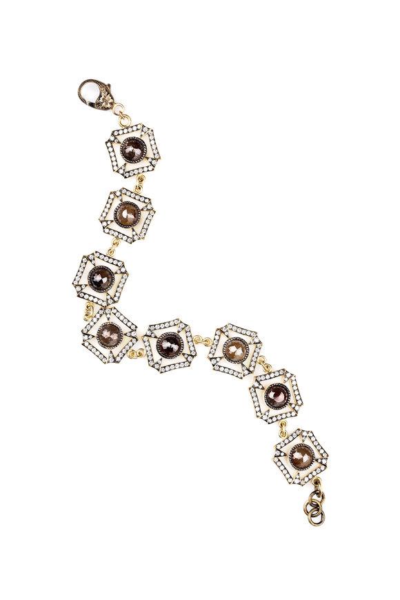 Sylva & Cie 18K Yellow Gold & Silver Diamond Bracelet