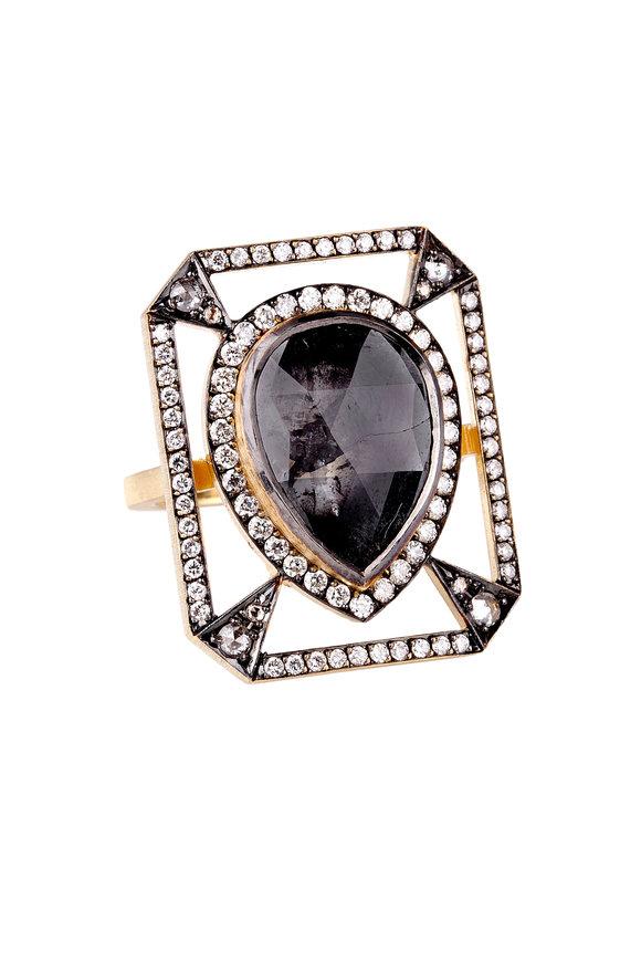 Sylva & Cie 18K Yellow Gold Diamond Cocktail Ring