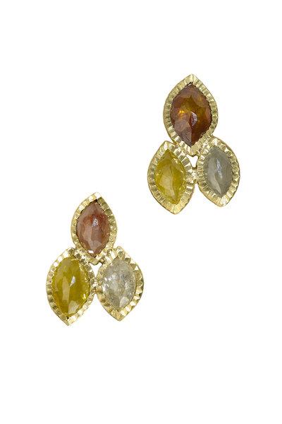 Todd Reed - Yellow Gold Fancy Diamond Earrings