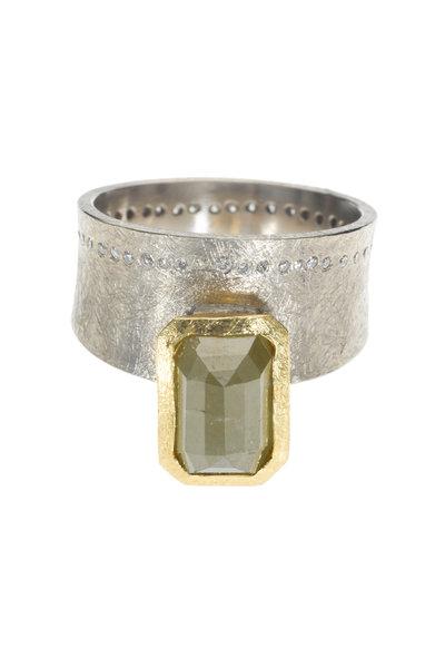 Todd Reed - Gold & Palladium Multi Diamond Ring