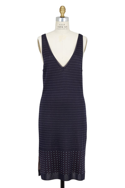 Rag & Bone - Abigale Navy Blue Fitted Double V Dress