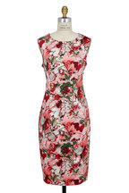 Carolina Herrera - Pink Archive Bouquet Print Sheath Dress