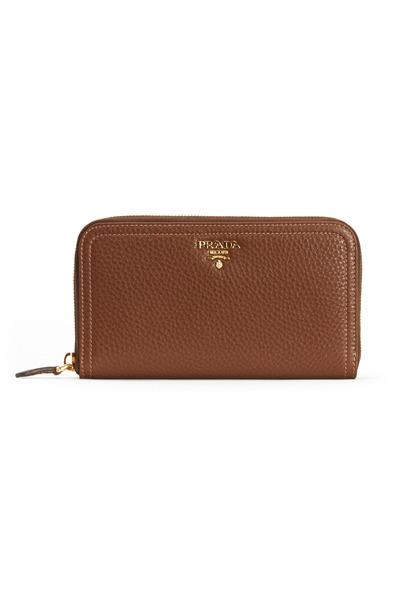 Prada - Pallasan Leather Zip Wallet
