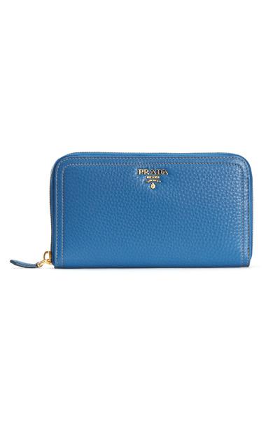 Prada - Cobalt Leather Zip Wallet