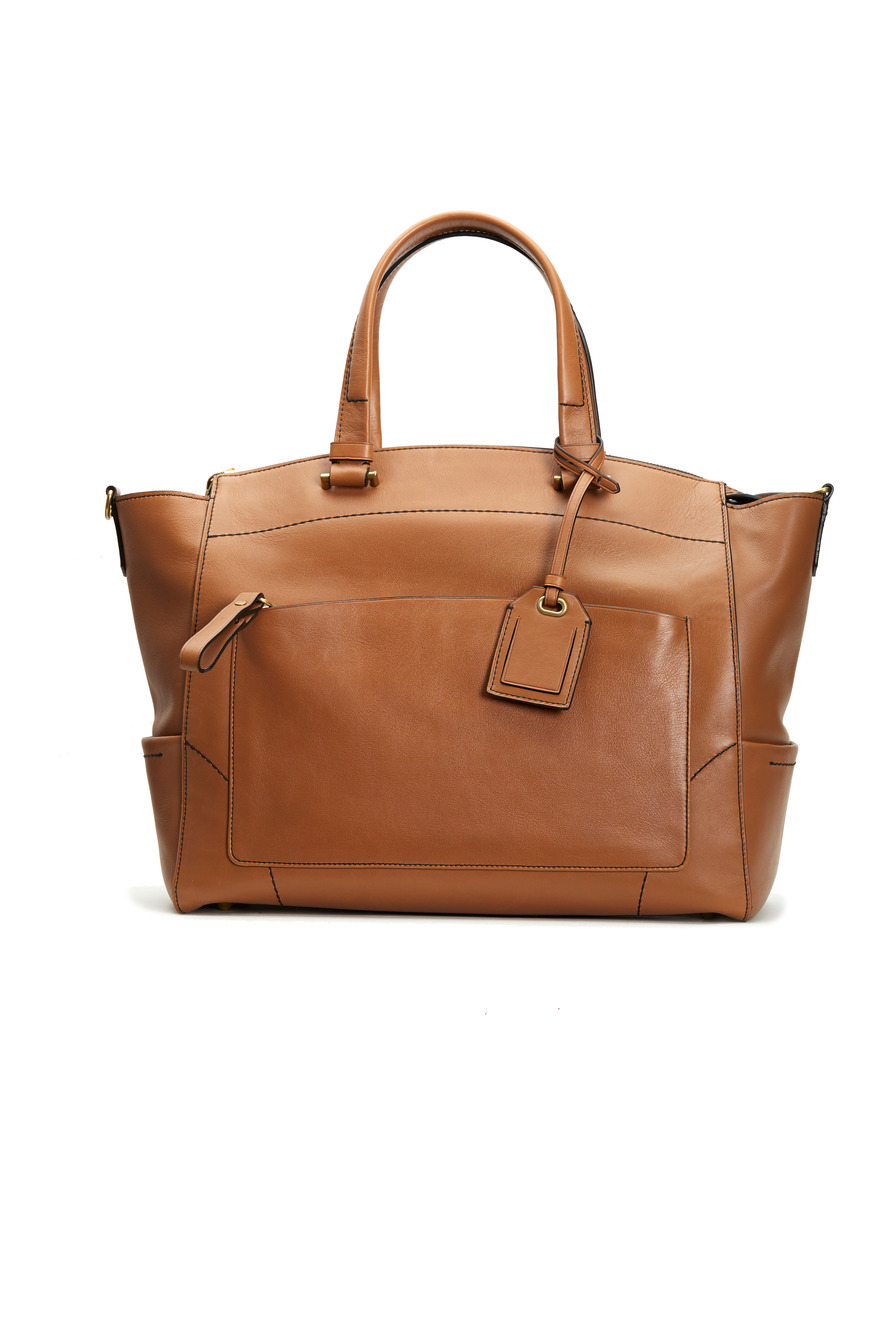 Uniform Saddle Brown Leather Satchel