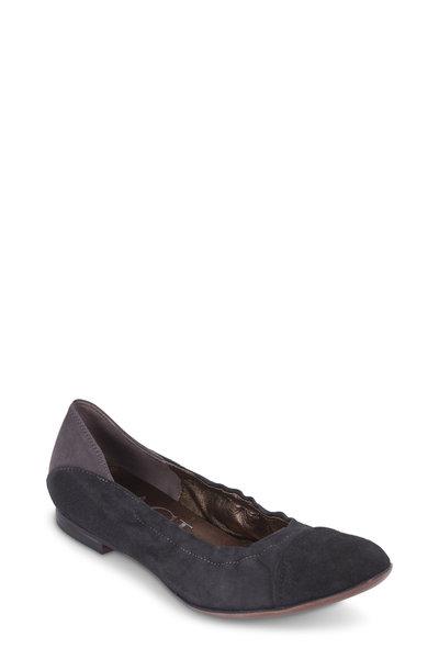AGL - Black & Gray Tri-Tone Suede Ballet Flat