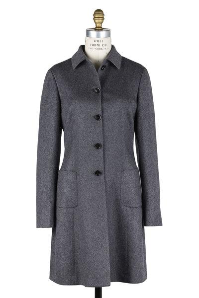 Kiton - Gray Cashmere Two Pocket Coat