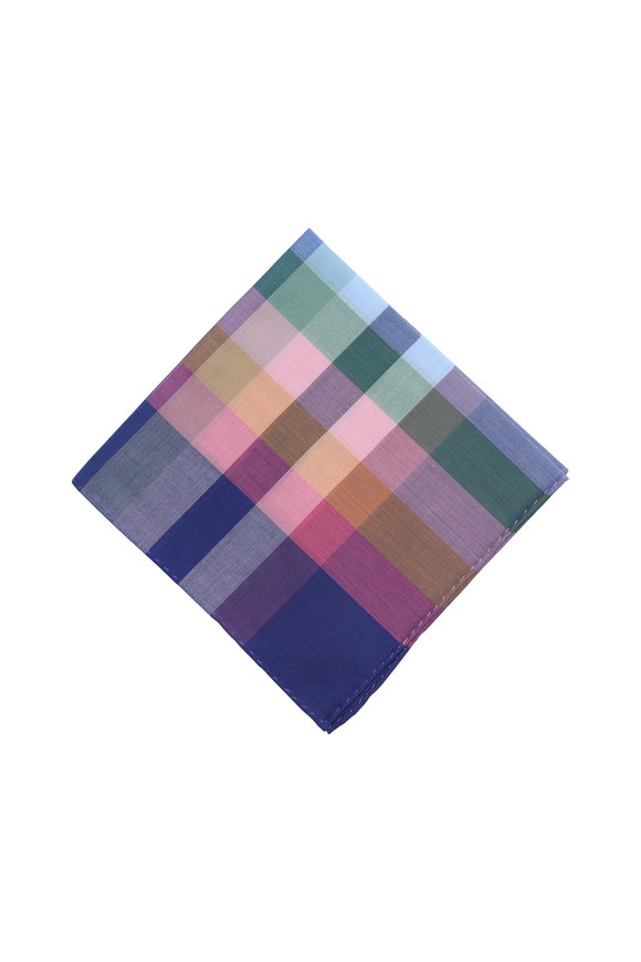 Simonnot-Godard Multicolor Cotton Pocket Square