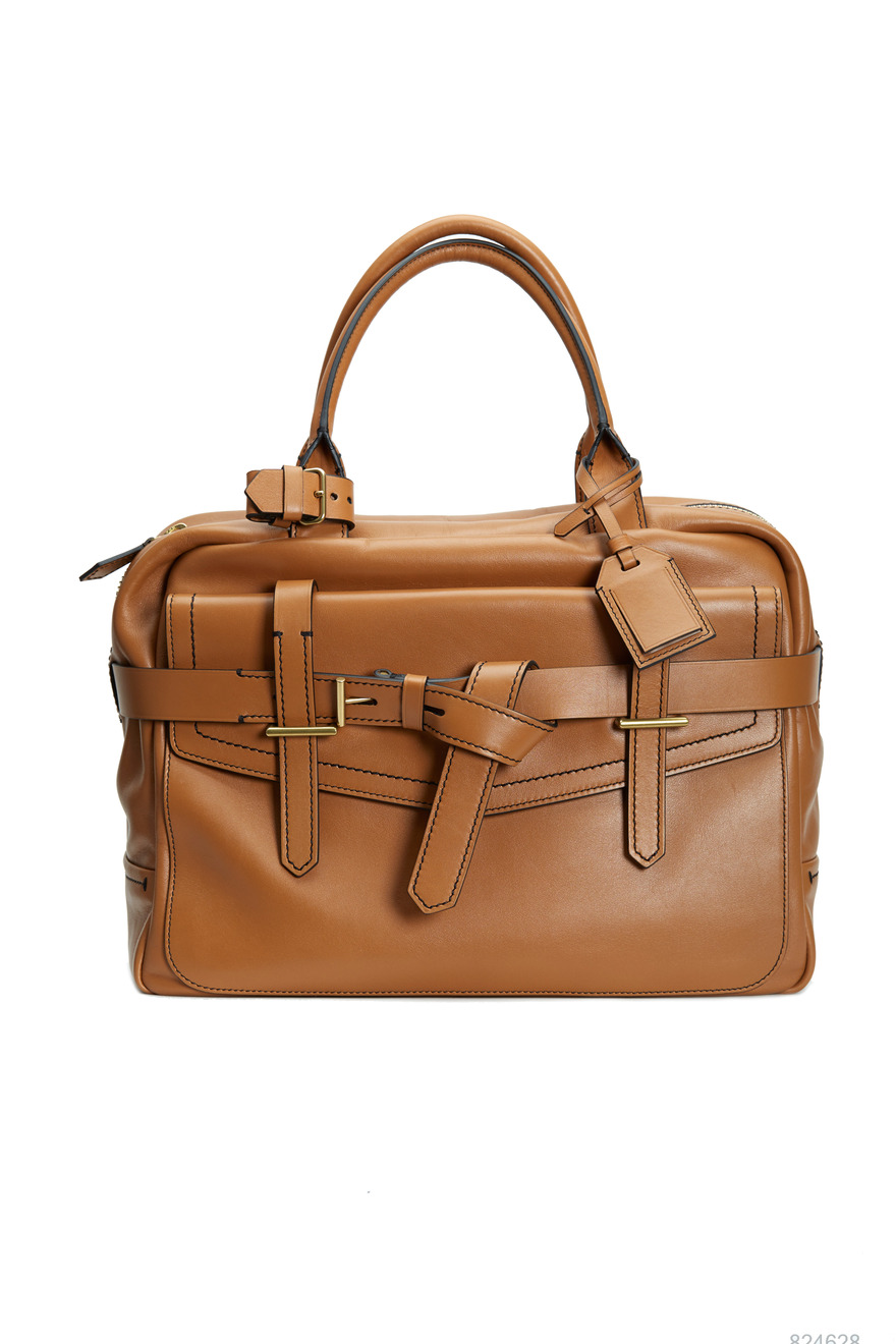 Fighter Saddle Brown Leather Satchel